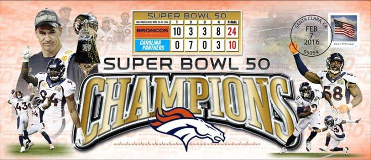 The U.S. Postal Service will celebrate the Broncos' Super Bowl 50 win by selling collectible stamped envelopes.