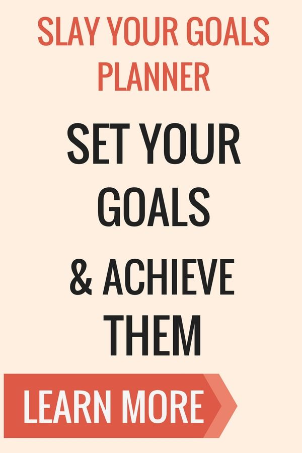 How to set goals and actually them slay your goals planner is the slay your goals planner is the ultimate planner to slaying your goals it is more of a blueprint to your succes pinteres malvernweather Choice Image