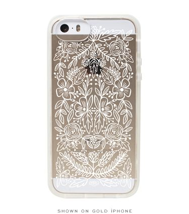 Rifle Paper Co - Clear Lace iPhone 5 + 5s  Case