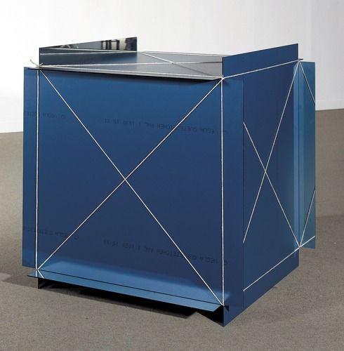 Michelangelo Pistoletto, Metrocubo d'infinito, [mètre cube d'infini], 1966 - miroir, ficelle de chanvre