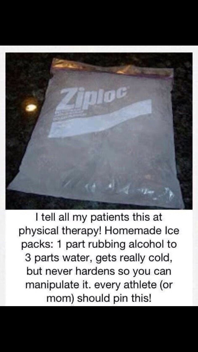 Amazing homemade ice packs