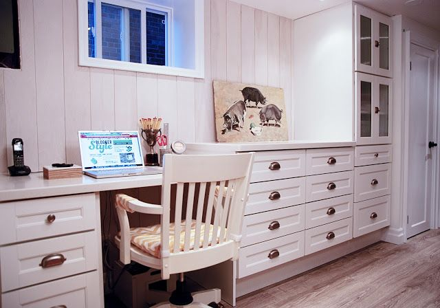 martha stewart ox hill cabinetry was used in this basement. Black Bedroom Furniture Sets. Home Design Ideas