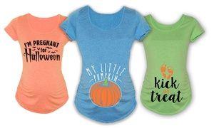 Groupon - Women's Maternity Halloween Tees. Groupon deal price: $17.99