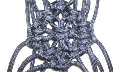 Alternating Square Knot: Snowflake Design- this shows the patterns that can be made using a complex alternating pattern using 12 cords.