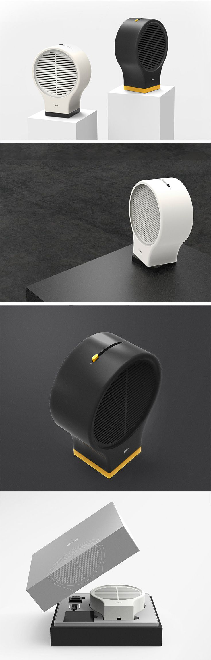 """This simplistic fan is stripped of all the unnecessary components for pure functionality and is inspired by Dieter Rams minimalist mantra of """"less, but better""""."""
