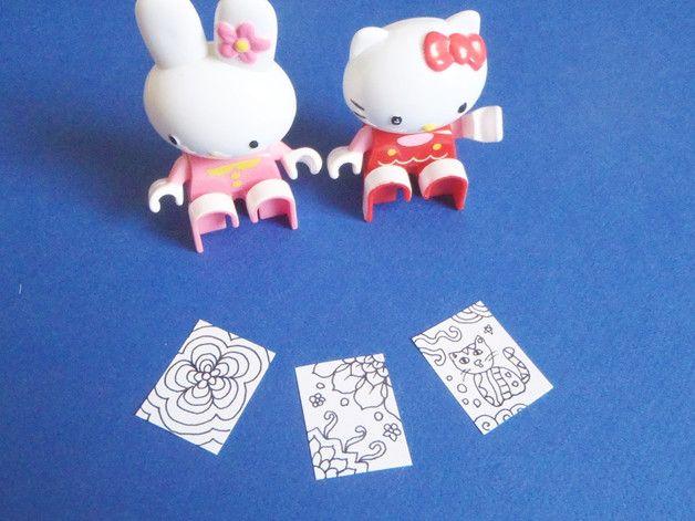 Acquarelli - mini pagine da colorare casa di bambole miniatura - un prodotto unico di LaSoffittaDiSte su DaWanda