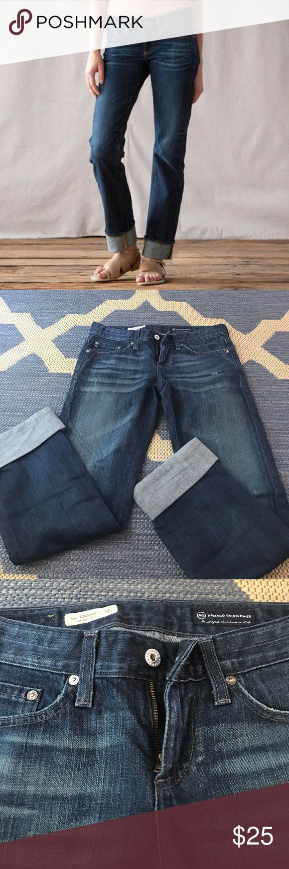 AG Anthropologie boyfriend fit jeans Adriano Goldschmied AG purchased from Anthropologie boyfriend fit jeans. Excellent condition. Run large. No trades. AG Adriano Goldschmied Jeans Boyfriend