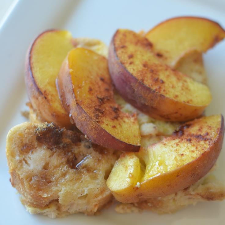 Overnight Peach French Toast Bake | Menu Plan | Pinterest