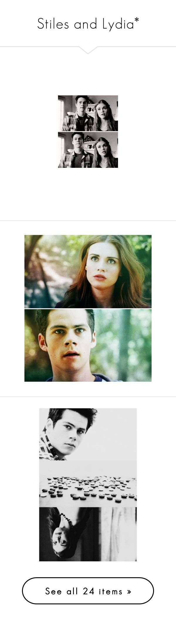 """""""Stiles and Lydia*"""" by baciunaite-monika ❤ liked on Polyvore featuring teen wolf, dylan o'brien, holland, people - holland roden, tv - teen wolf, home, home decor, holland roden, stiles and lydia"""