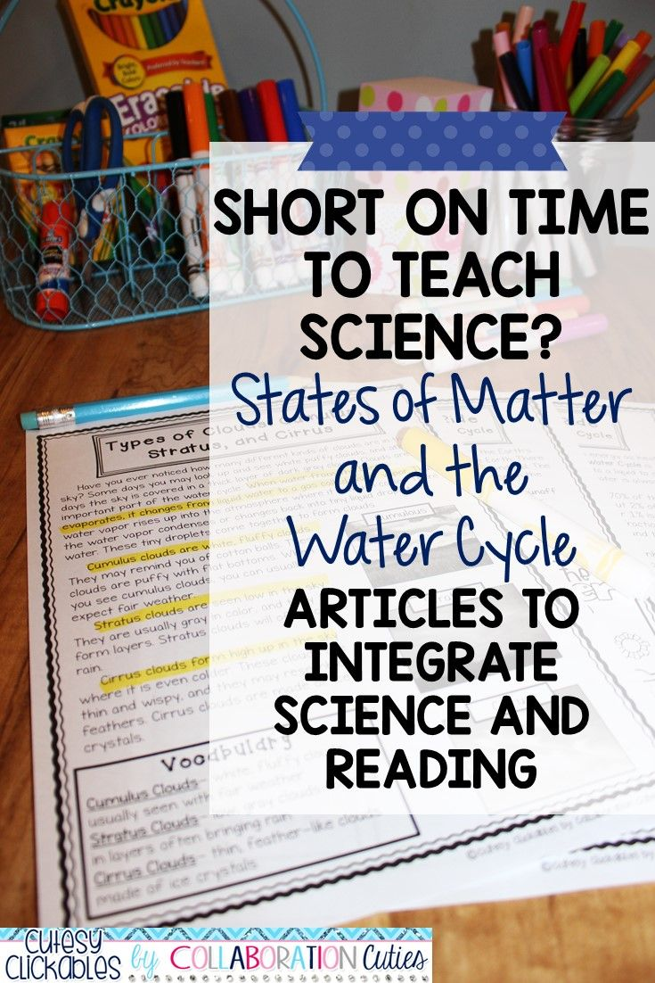 These States Of Matter And The Water Cycle Articles Are The Perfect Addition To Your Science Lesson Plans There Are Reading P Ages With Vocabulary