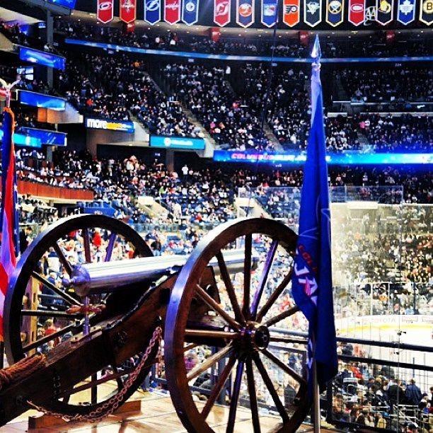 Fire the Cannon! CBJ GameDay BOOM | InstaGREATS | Pinterest