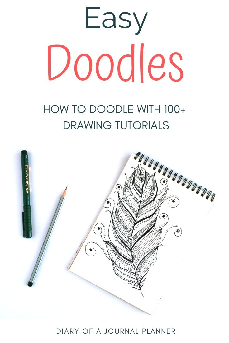 try doodling with these super easy doodle tutorials over 100 different doodles to try doodle doodles doodling doodleart howtodraw [ 735 x 1102 Pixel ]