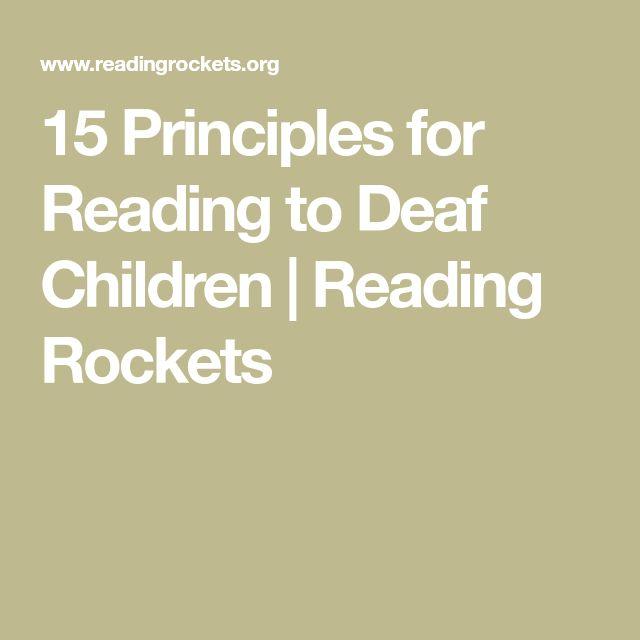 15 Principles for Reading to Deaf Children | Reading Rockets