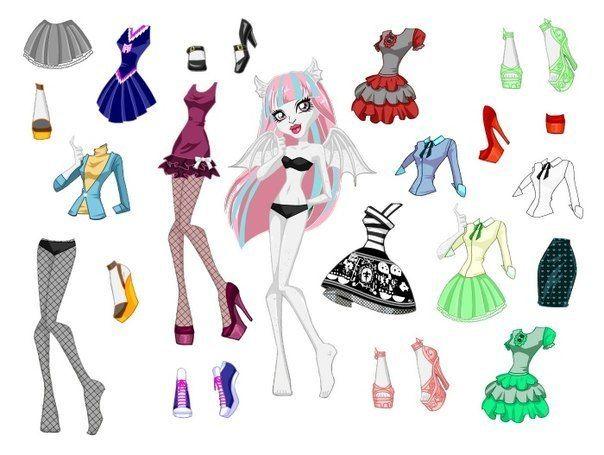 Muñecas Monster High Para Recortar Y Vestir Las Muñecas De