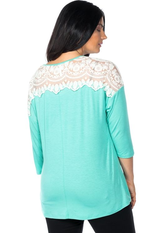 LADIES BOHO LACE SHOULDER LINE PLUS SIZE TOP SIZE: 2XL (~~PRE-ORDER~~) $25.00  Coming Soon or 4 payments of $6.25 with Afterpay  Available from: January 20, 2018