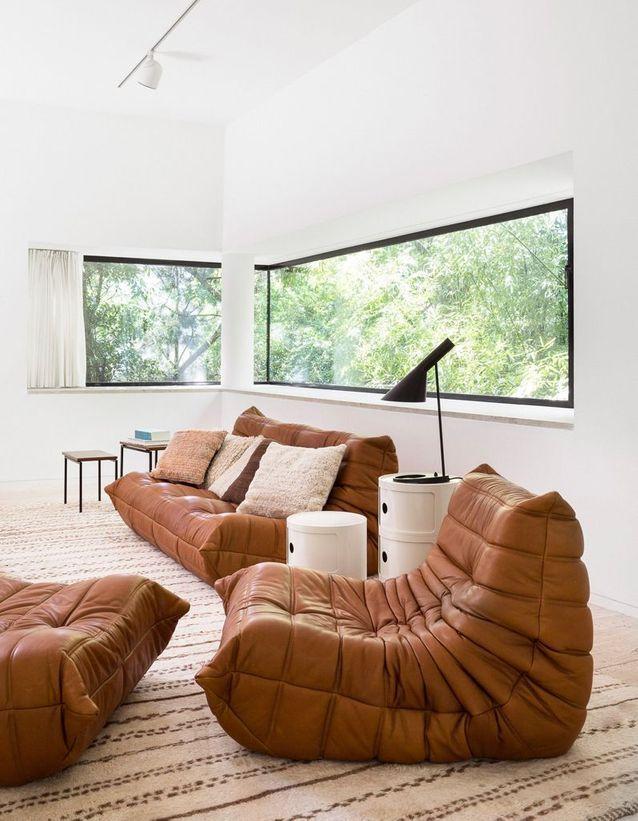 Le Mythique Canape Togo En 20 Inspirations Elle Decoration Canape Togo Decoration Maison Architecte Interieur
