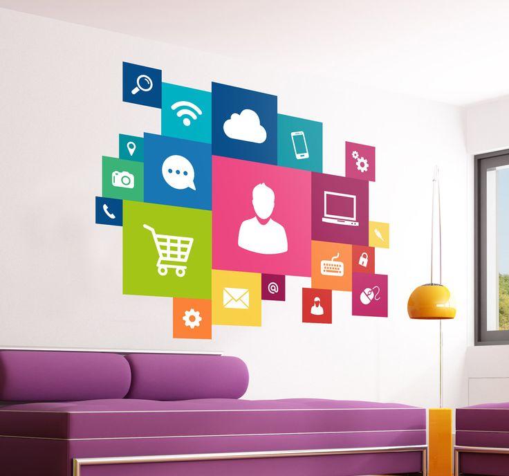 Social media wall decor
