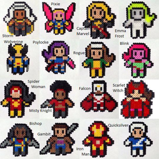Choose 3 Marvel Heroes Perler / Hama Bead by HouseOfVicness