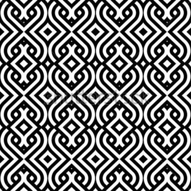 Mexican Pattern Tile Black And White Google Search