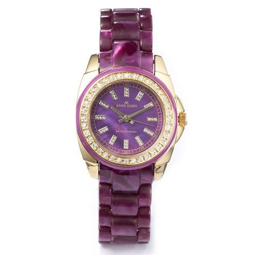 Anne Klein: Watches > Color > Purple Resin Bracelet Watch - Watch