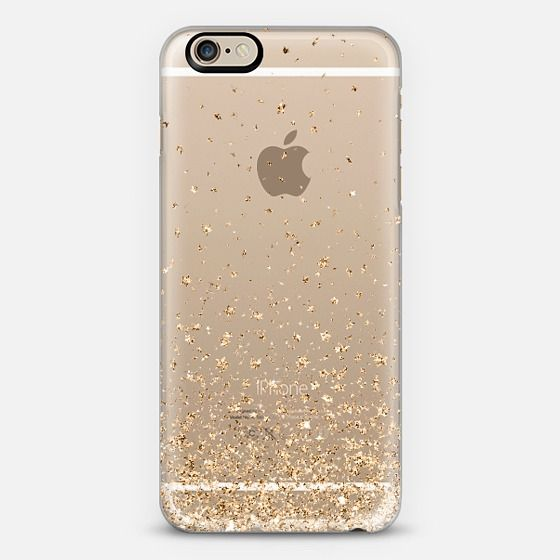 f41d28d3b6335c Gold Stars Rain Transparent iPhone 6 Case by Organic Saturation | Casetify.  Get $10 off