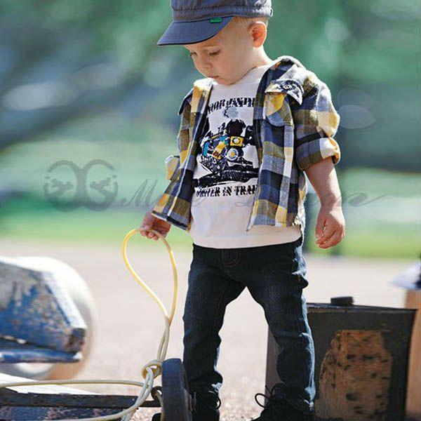Niños ropa de bebé niño conjunto de otoño jacket+shirt+jean 3 piezas de serie--Identificación del producto:964237553-spanish.alibaba.com