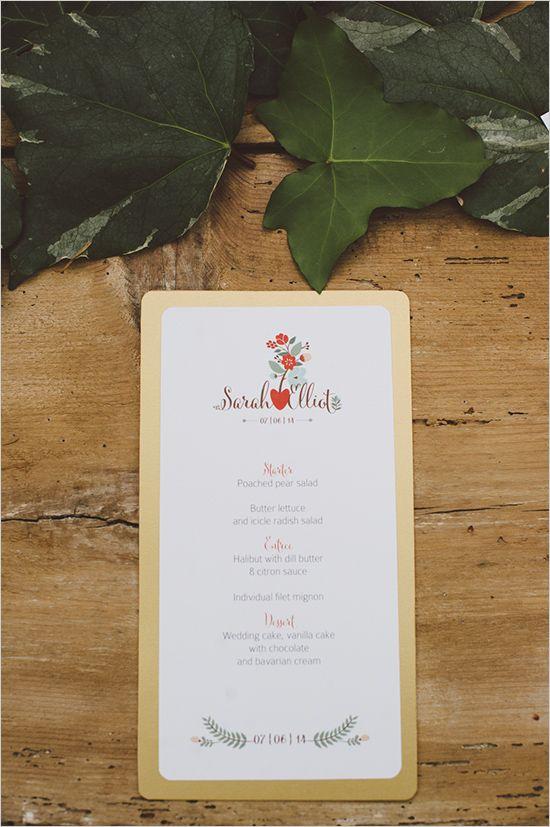 Boho wedding: fresh wedding menu ideas