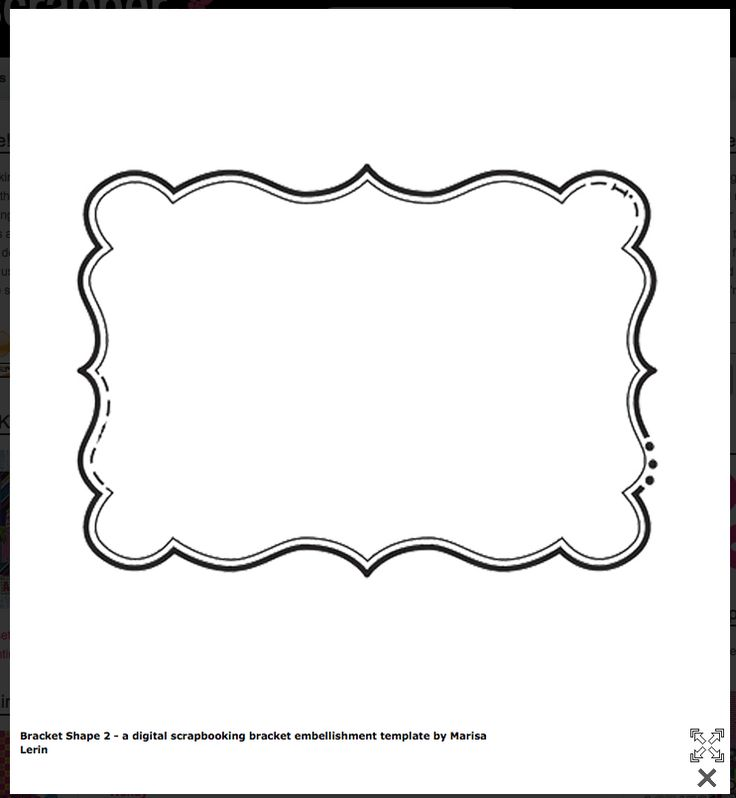 Transformative image in free printable shape templates