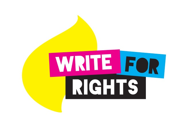 This logo design was developed for the Write for Rights Write-a-thon intiatiave by Amnesty International where participants were encouraged to write letters of protest to government leaders across the world, demanding fair and just treatment of their citizens. http://www.cyansolutions.com/work/services/corporate-identity #ottawa #marketingottawa #marketing #design #logo #logodesign #web #print