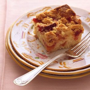 Plum-Nectarine Buckle    http://www.delish.com/recipes/cooking-recipes/nectarine-dessert-recipes#slide-8