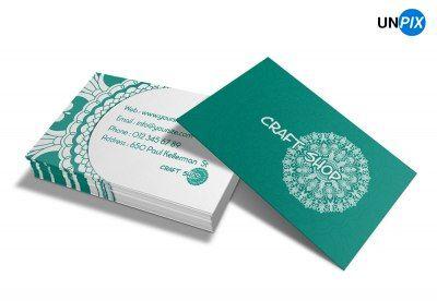 Магазин ремесла – Макет визитной карточки 1125 x 675 pix | Готовность к печати, CMYK, 300 dpi. Цена: 400 руб.