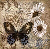 Framed Butterfly Garden I