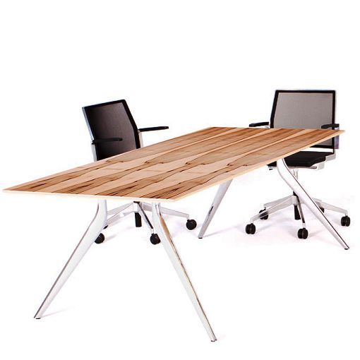 Eona Rectangular office tables. eona™ can accommodate tables and desks with a variety of top depths and to an infinite length. Minimum table depth is 800mm and maximum depth is 1600mm. eona™ is offered in standard length tables, however by adding rails and additional legs, eona's™ optional multi-leg configuration supports meeting and boardroom tables of unlimited length.
