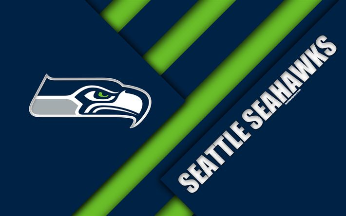 American Sports Material Wallpapers: Download Wallpapers Seattle Seahawks, NFC West, 4k, Logo