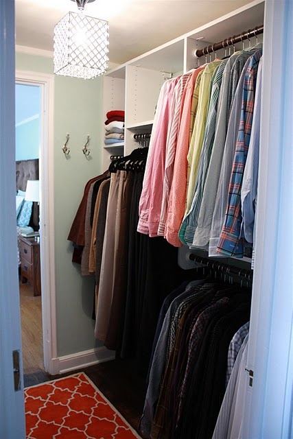 I like the idea of walking through the closet to get to the bathroom- good use of space