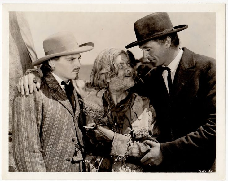 THE PLAINSMAN (1936) - Gary Cooper (pictured) - Jean Arthur - James Ellison - Charles Bickford - Helen Burgess - Peter Hall (pictured) - Gabby Hayes (pictured) - Produced & Directed by Cecil B. DeMille - Paramount - Publicity Still.