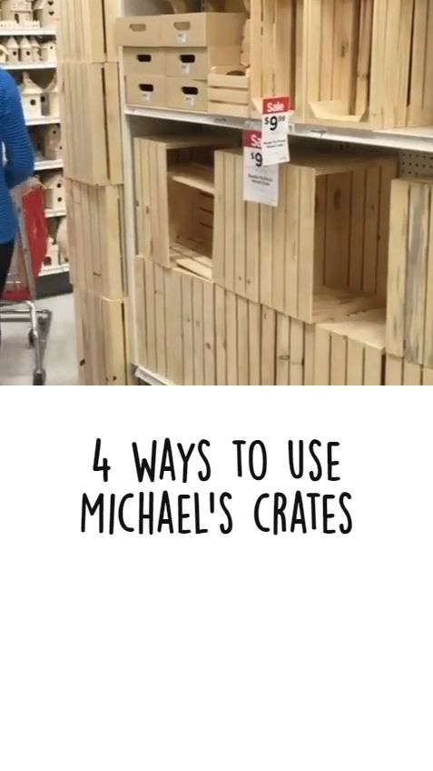 House Projects, Furniture Projects, Furniture Makeover, Wood Projects, Diy Furniture, Woodworking Projects, Michaels Crates, Diy Home Crafts, Diy Home Decor