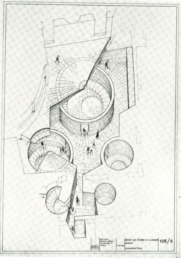 FRANCO ALBINI,  MUSEO DEL TESORO DI SAN LORENZO,  Assonometria,  1956