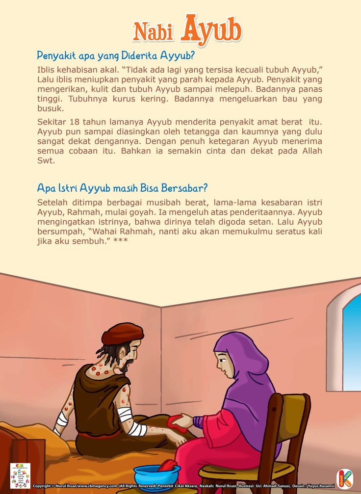 Cobaan Berat Nabi Ayub as | Ebook Anak