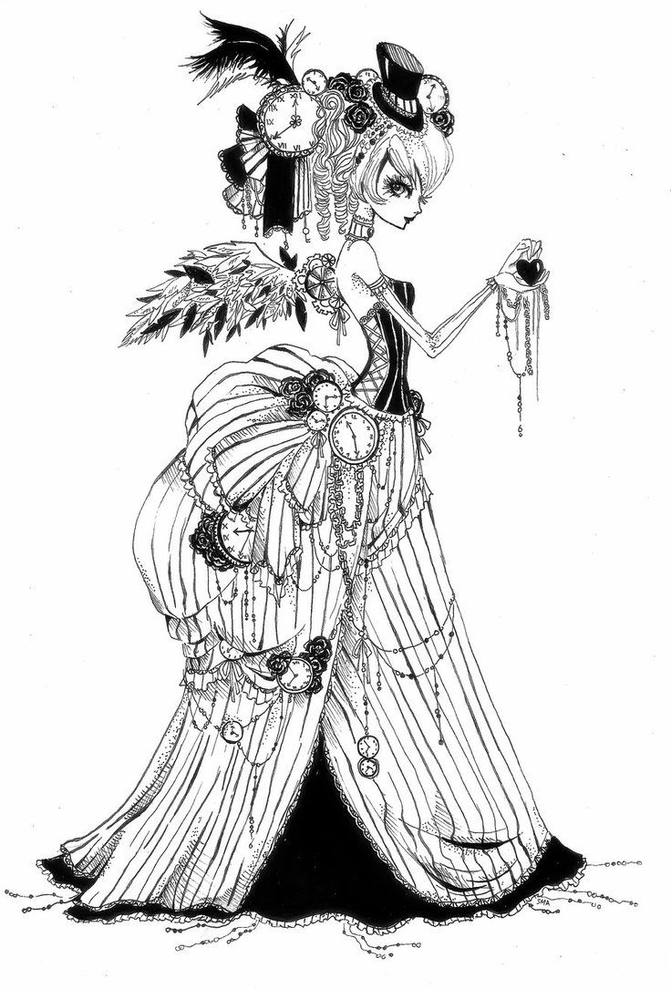 132 best steampunk coloring pages images on pinterest coloring