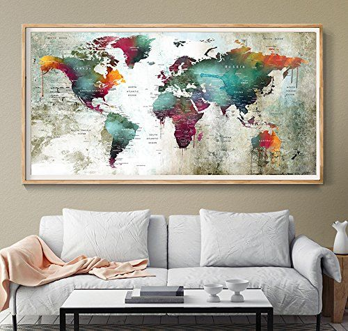 39 best amazon world map images on pinterest world maps extra large world map poster printworld map wall poster map a gumiabroncs Images