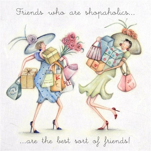 Cards » Friends who are shopaholics » Friends who are shopaholics - Berni Parker…