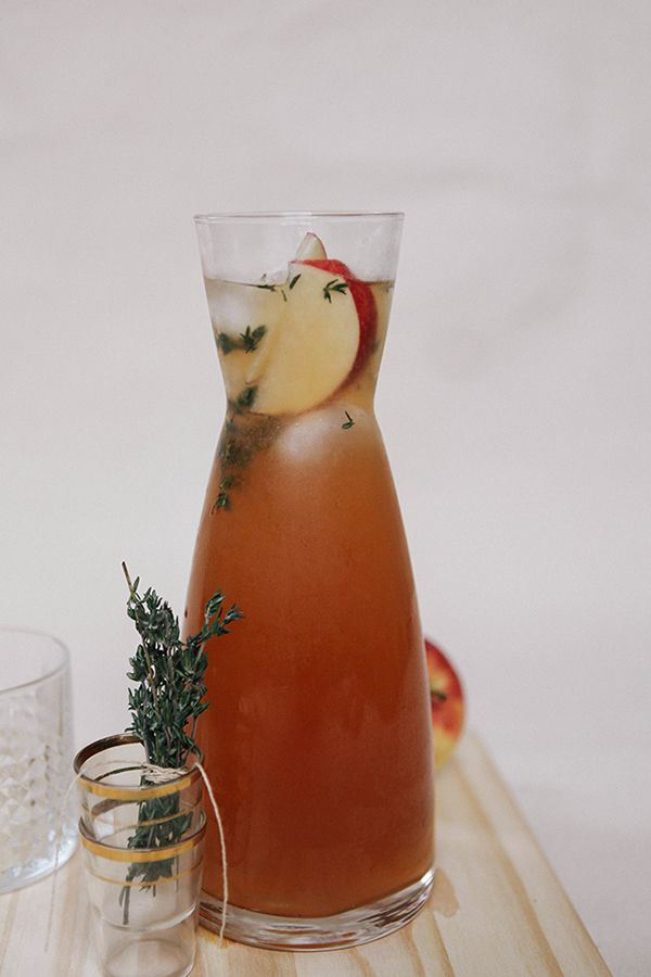 Cider rum punch with thyme!