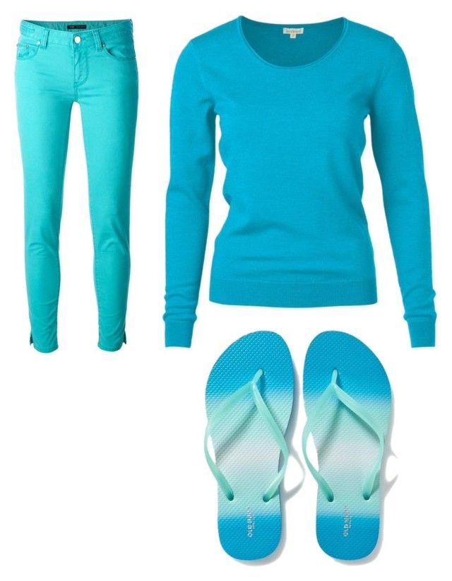 Blue by aniarkdk on Polyvore featuring polyvore, fashion, style, PT01 Pantaloni Torino, Old Navy and clothing