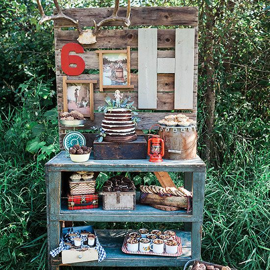 outdoor, rustic party theme