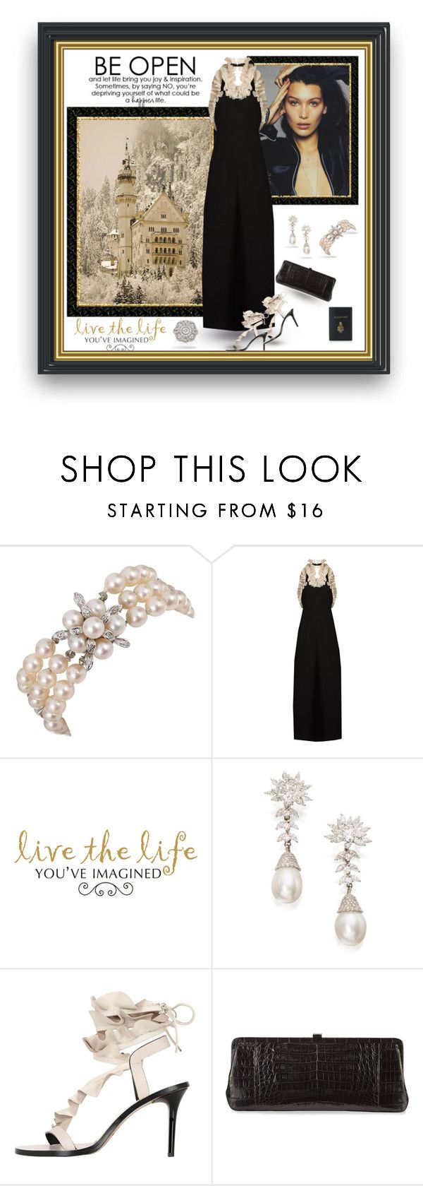 """""""Life Imagined"""" by leanne-laviolette ❤ liked on Polyvore featuring Harry Winston, Isa Arfen, WALL, Isabel Marant, Nancy Gonzalez and Mark Cross"""
