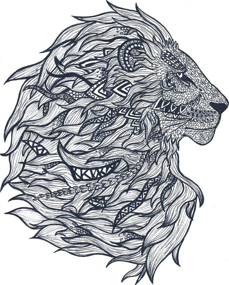Mandala Lion leone animal detail details decorazioni decoration decorations anomale king disegno draw lion tatto ideas tatuaggio