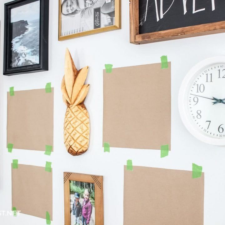 How To Hang Pictures Without Nails By Using 3m Command Strips In 2020 Hanging Pictures Hanging Wall Art Painted Picture Frames
