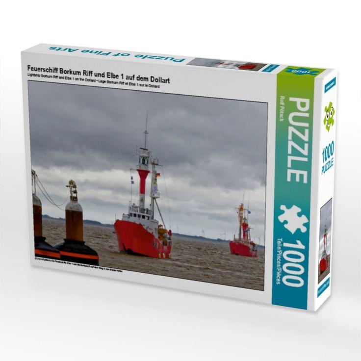 Feuerschiff Borkum Riff und Elbe 1 auf dem Dollart (Puzzle) - CALVENDO