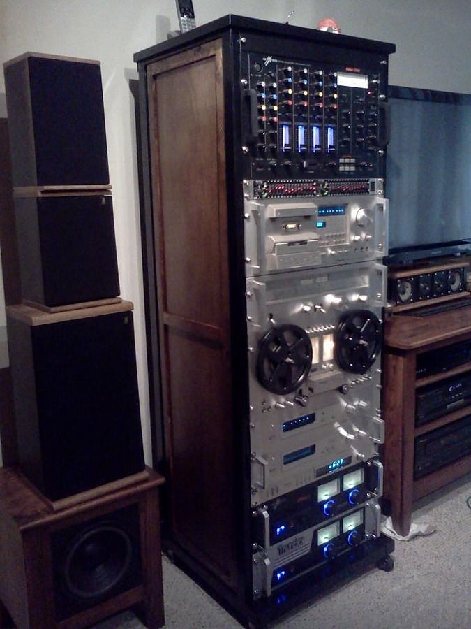custom built rack for some of my pioneer equipment. Black Bedroom Furniture Sets. Home Design Ideas